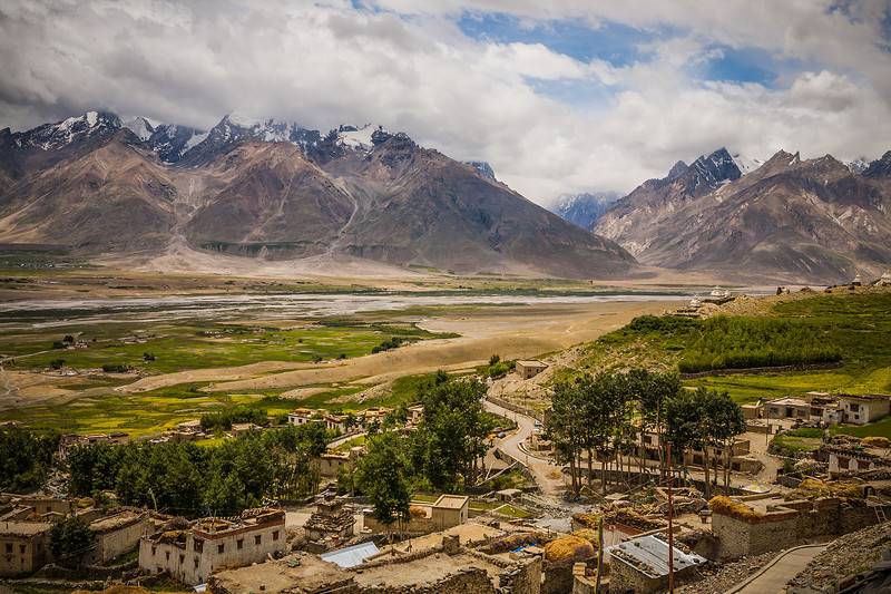 View from Karsha monastery in Zanskar, India