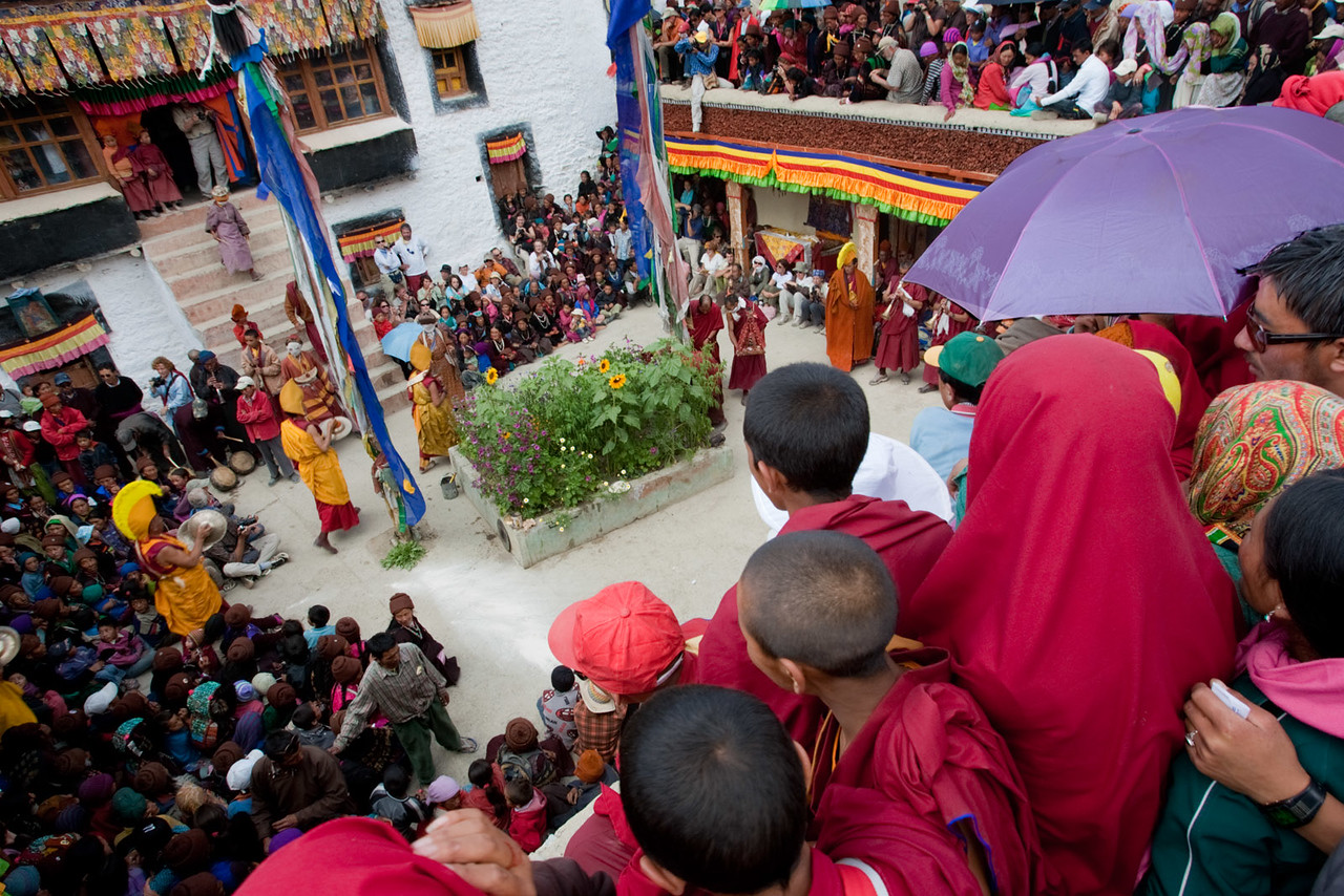 Stongde Gustor, Cham (mask) dances. Stongde Monastery.