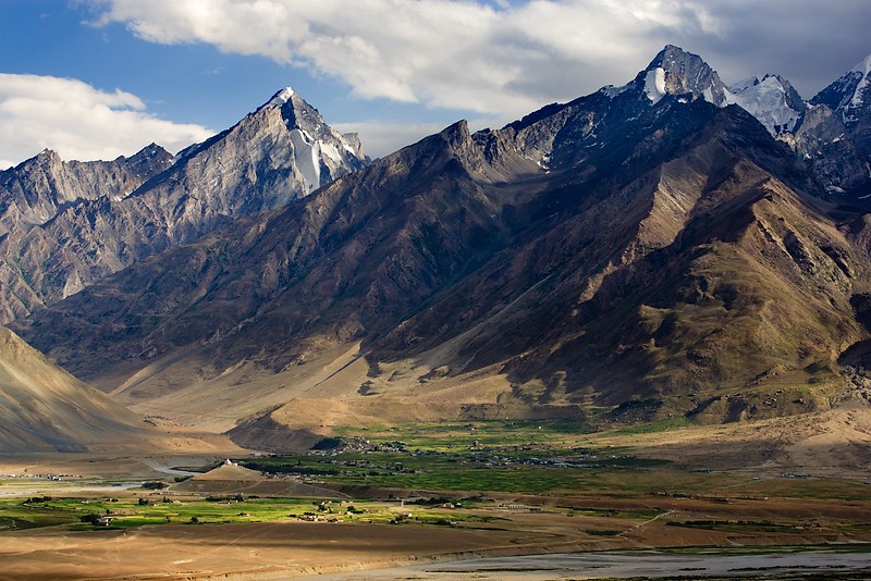 Padum, the capital of Zanskar.