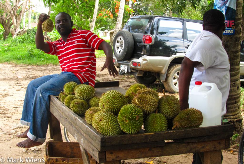 durian in Zanzibar