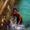 Diving African Boys