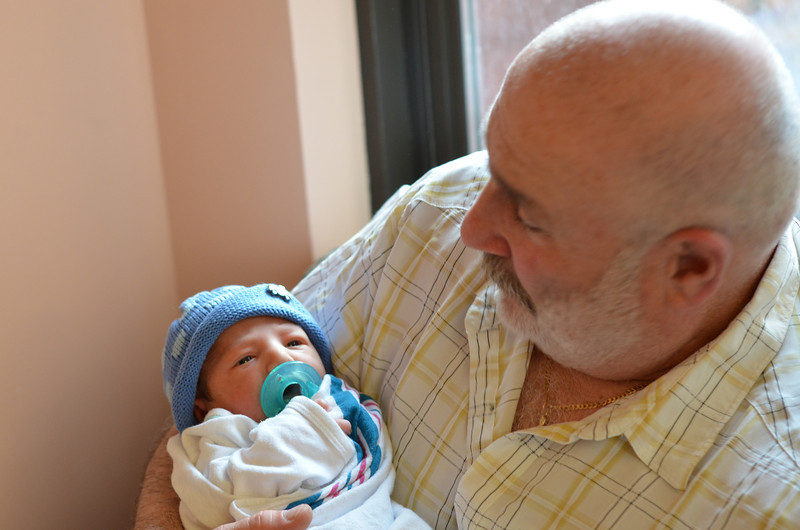 Enjoying a little time with Grandpa.