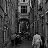 Blind Donkey Alley, Bruges (b/w)