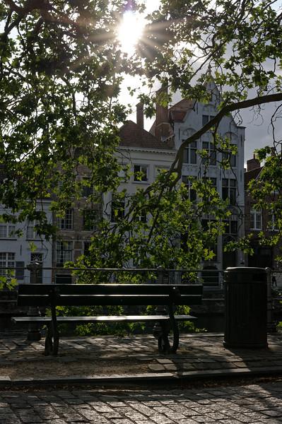 Canalside bench, Sint-Annarei, Bruges