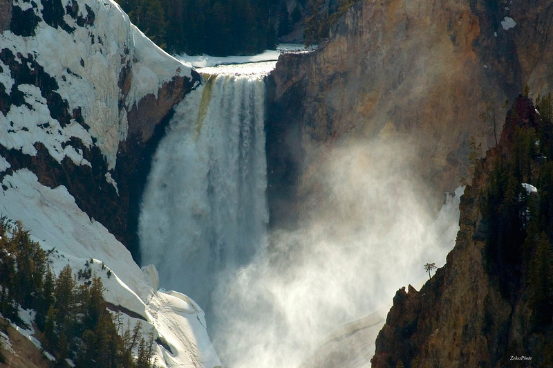 Artist's View  Little Grand Canyon, Yellowstone National Park [February]
