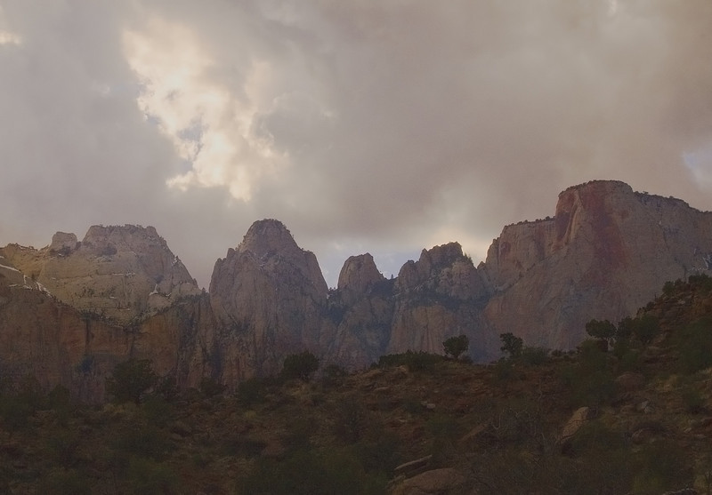 Temple of the Virgin, Zion National Park, Utah  [March]