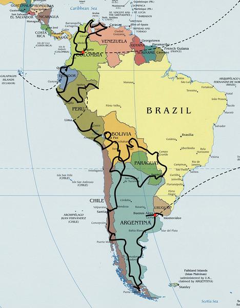 Južna Amerika - 5. in 6. leto (2009 in 2010)