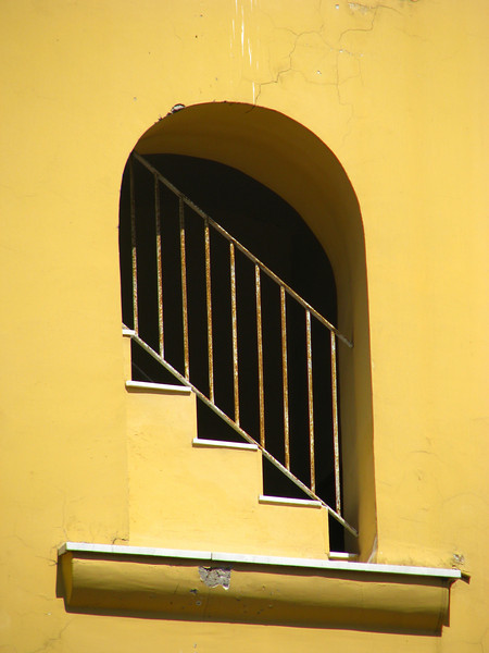 Yellow stairwell