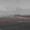 B & W Golden Gate panoramic