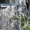 Water fountain row