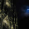 Cathedral and moonlight