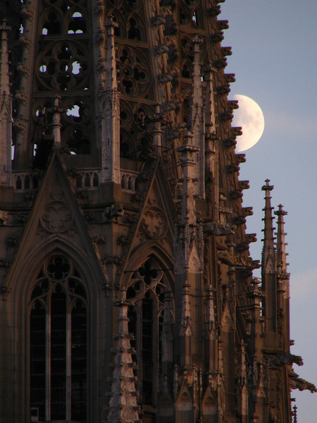 Cathedral with moon
