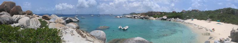 The Baths panoramic, Virgin Gorda, British Virgin Islands