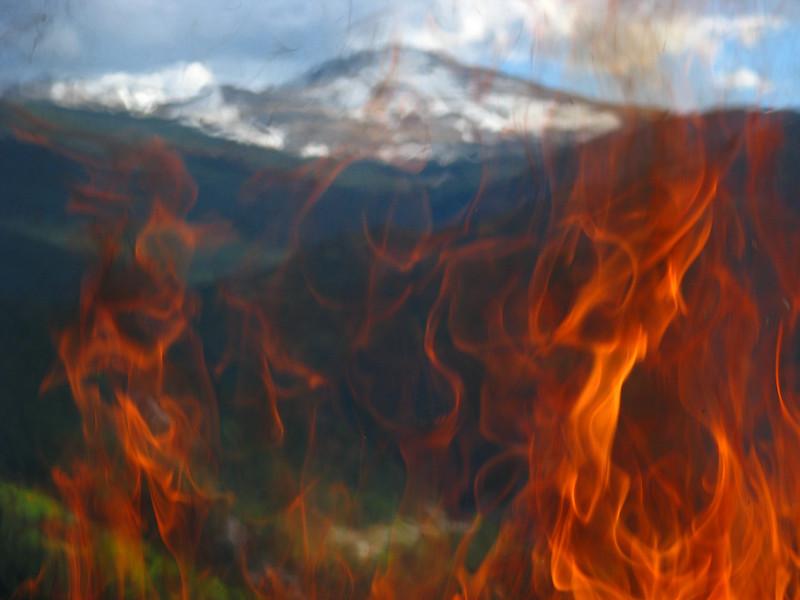 Mt evans through fire