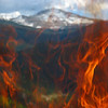 Mt evans through fire