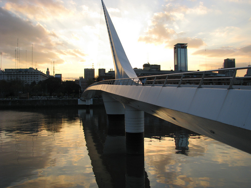 BA bridge at sunset