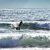 Surfing off Mission Beach, San Diego, California.