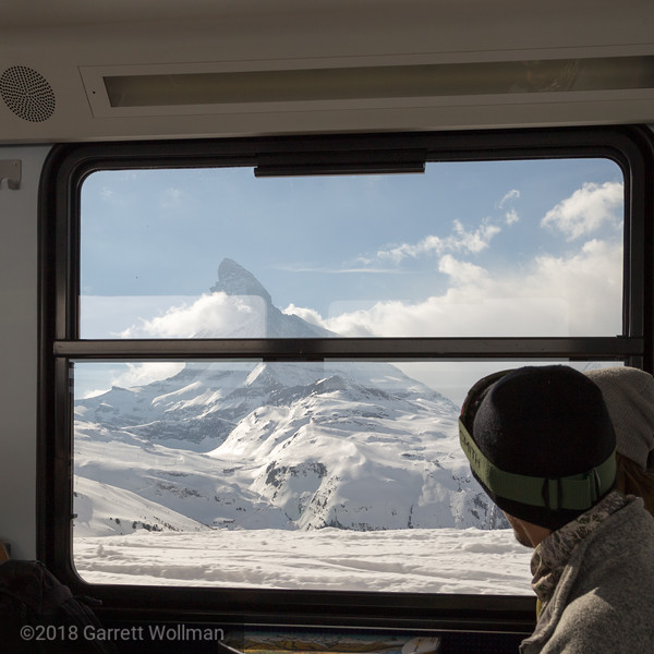 Matterhorn from inside train
