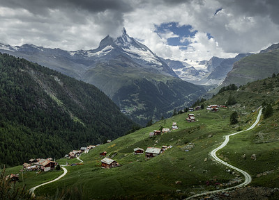 Curves and Mountains! - Findeln, Switzerland