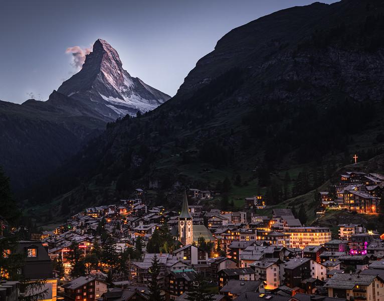 Twilight Glow! - Zermatt, Switzerland