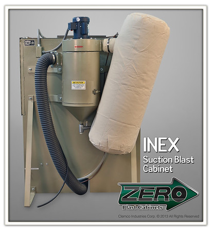 INEX Suction Blast Cabinet with 300 ccm Reclaimer and Dust Bag Stock NO. 20261