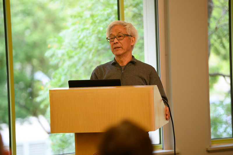 Zhang Hongtu is an artist who has lived in the United States since 1982. Zhang visited the Beach Museum of Art in Manhattan Kansas On Oct 10, 2019. (Dylan Connell | Collegian Media Group)