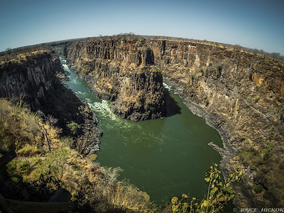 Zambezi River past Victoria Falls