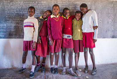 Seventh graders in a school we visited in Zimbabwe.