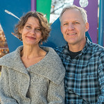 Charlotte and Ben Zink at their studio, Zink Metal Arts, in Berthoud, CO, on December 19, 2019.  They were photographed for a Feature article for Loveland and South Magazine.