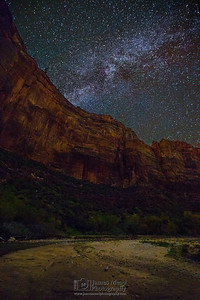 """Touchstone Milky Way,"" Touchstone Wall, Zion Canyon, Zion National Park"