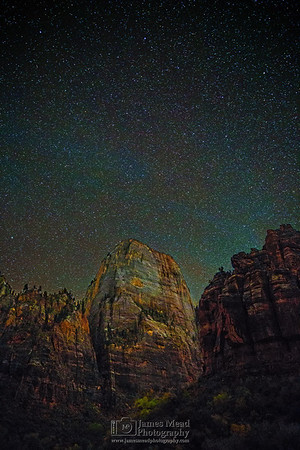 """""""Heaven above The Great White Throne,"""" Zion National Park, Utah"""