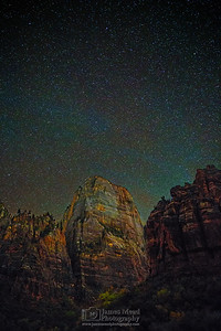 """Heaven above The Great White Throne,"" Zion National Park, Utah"