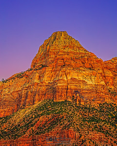 """Brdige Mountain Sunset,"" Zion National Park, Utah"