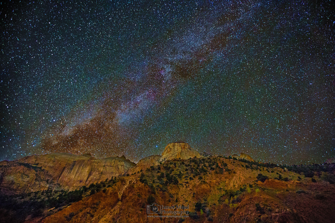 """Streaks, Stars and Sentinels,"" The Sentinel and the Streaked Wall, Zion Canyon, Zion National Park, Utah"