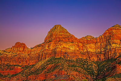 """Bridge to the Temple at Sunset,"" Zion National Park, Utah"