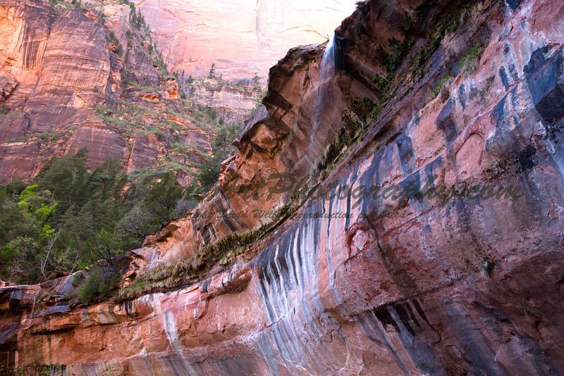 Emerald Pool waterfall from below