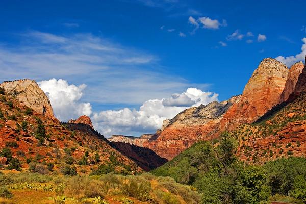 Zion Canyon, Zion National Park.