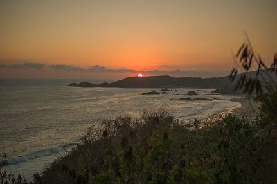 Sunset over Punta Cometa