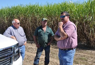 Louisiana Farm Bureau President Ronnie Anderson, left, and Louisiana Farm Bureau 3rd Vice President Richard Fontenot visit St. Martin Parish with American Farm Bureau President Zippy Duvall.