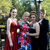 Jillian Ward, Chauncie Ouellette, Olivia Wilkins and Kira Casey at the Sizer School prom held Saturday at Westminster's 1761 Old Mill. Photo by Vincent Apollonio