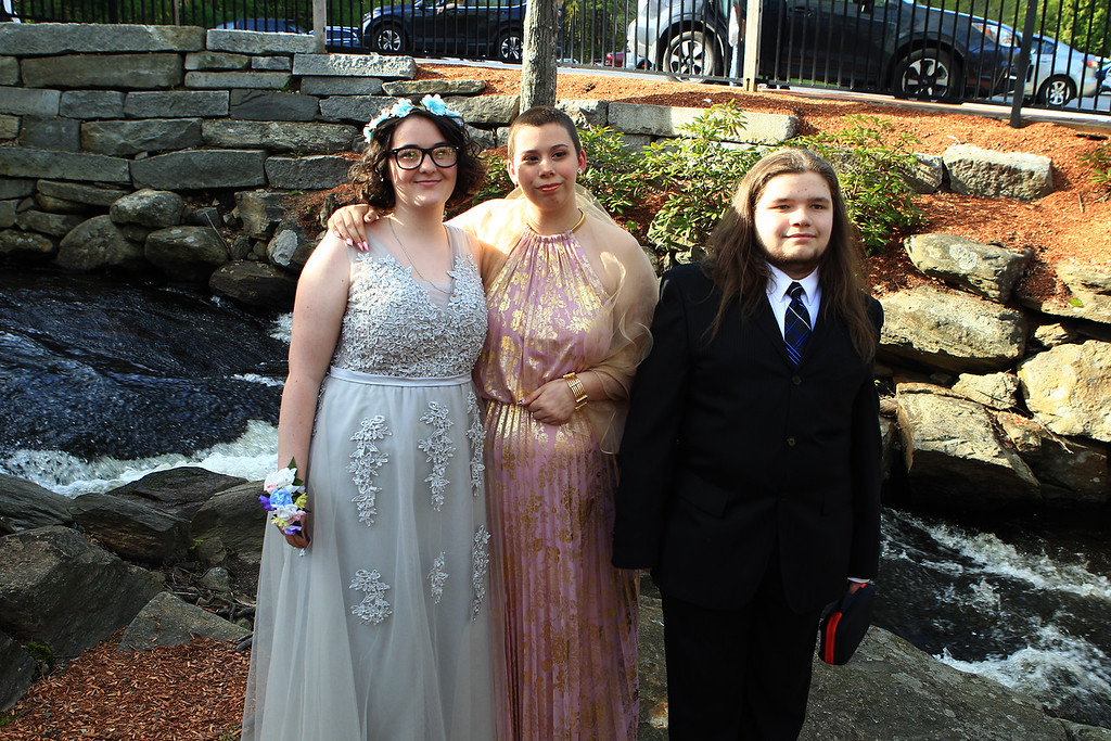 . Kathleen McAndrew, Jace Stigermain ,and Keith Grace at Sizer Prom May 18,2019.Photo by Vincent Apollonio