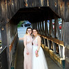 Lily Kopsala and Samantha Jean at pose at the covered bridge just before the Sizer School prom held Saturday at Westminster's 1761 Old Mill. Photo by Vincent Apollonio