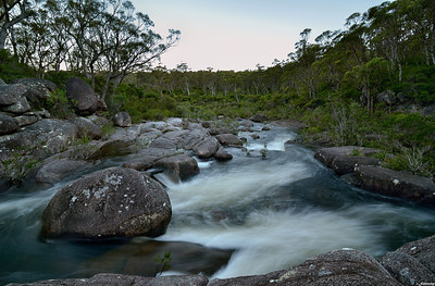 Nightfall at Little Dandahra Creek