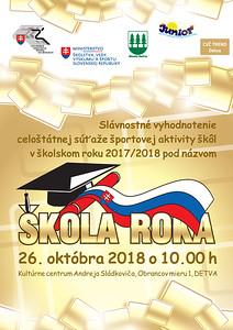 ŠKOLA ROKA slávnostné vyhodnotenie, Detva - 26.10.2018