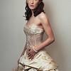 Portrait of Zoe in her beautiful gold dress.