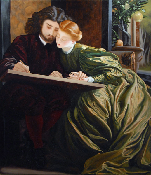 "Study of Leighton's, ""Painter's Honeymoon"""