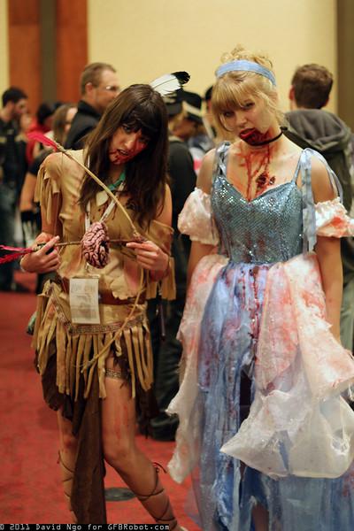Zombie Pocahontas and Zombie Cinderella