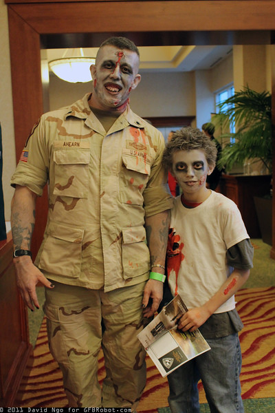 Zombie Soldier and Zombie
