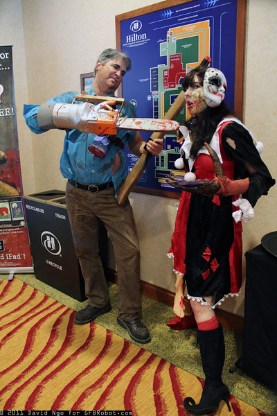 Ash Williams and Zombie Harley Quinn