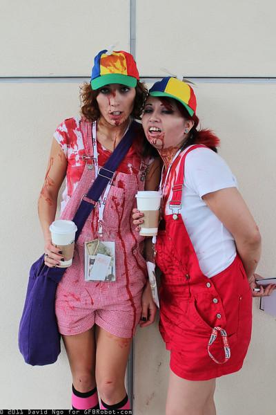 Zombie Tweedledee and Zombie Tweedledum